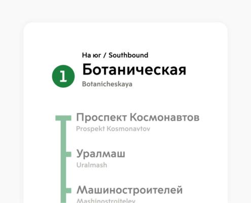 Вертикальные указатель в метро - Екатеринбург